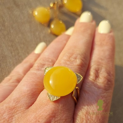 bursztynowy pierścień Słońce