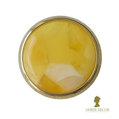 bursztynowa gałka meblowa modernhome złoto gloss/dekor koniakowy